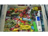 A collection of old corgi matchbox lesney die-cast cars
