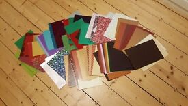 Huge selection of craft paper and card - ideal festive project