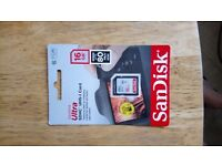 Genuine SanDisk Ultra SDHC™ UHS-1 Card 16GB 80MB/s Brand new, in original package. Unwanted Gift.
