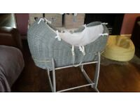 Claire delune grey crib and stand