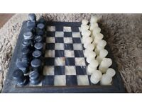 Beautiful marble/stone hand carved chess set