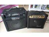 Buy 1 get one free. CRATE BT15 Bass amp + LG 20W Legend amp