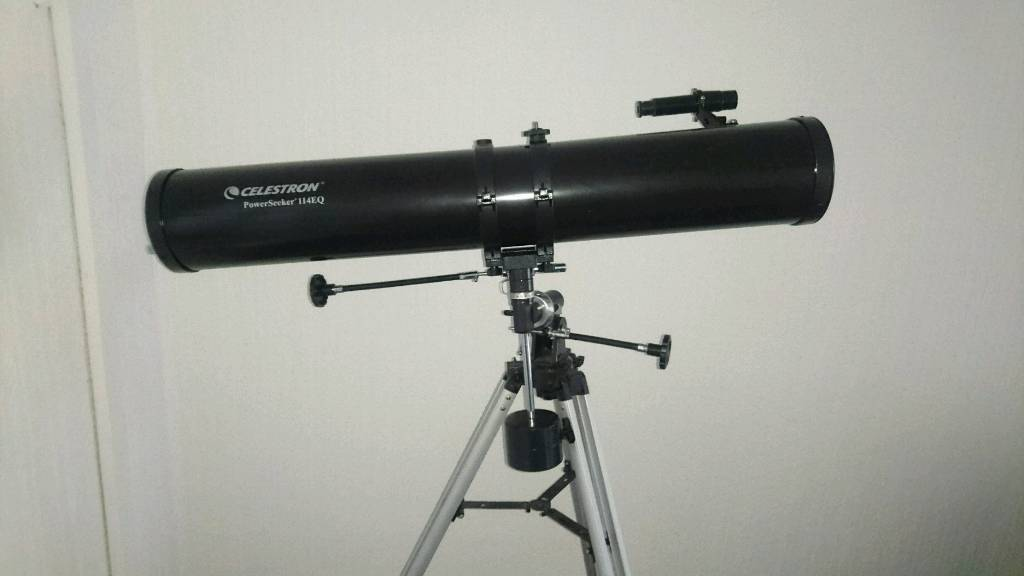 Celestron powerseeker 114eq telescope with stand and accessories