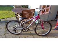 "Girls Ammaco Zombie Bike 20"" Wheels 6 Gears Good Condition"