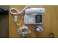 BT Decor 2500 corded phone with answering machine + 20m extension cable