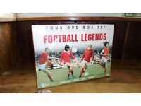 FOOTBALL LEGENDS MAN UTD - CHARLTON, BEST, LAW AND BRADY- DVD, FOUR DVD BOX SET