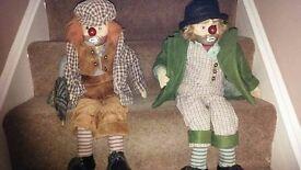Vintage antique clowns