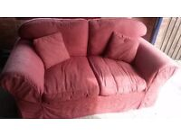 2-seater sofa, red