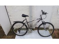 "Giant Rock mountain bike, frame17 /18 speeds/wheels 26""used, good condition."