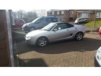 MGF FOR SALE SILVER WITH BLACK LEATHER INTERIOR W REG (2000) 68500 MILES