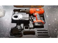 Black and decker drill 12v in very good condition! Fully working can deliver or post!