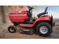 4 wheel, ride on mower. Petrol with grassbox. Woking order. multiple speed and height settings.