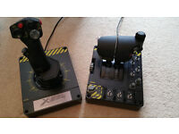 Saitek X55 Rhino H.O.T.A.S (hands on throttle and stick) with seat and stands