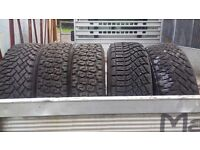 Ford Escort Part Worn Rally Tyres x 5. 800L 195/70r13