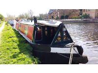 Bright and spacious-feeling 40ft trad stern narrowboat / canal boat - London