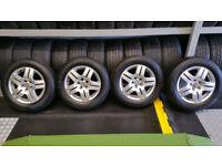 VW Genuine 15 alloy wheels + 4 x tyres 195 65 15