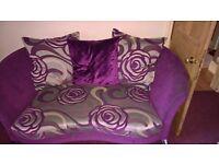 Purple pillow back sofa 3 & 2 Seater