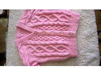 girls cabel knit cardigan