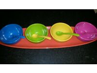 4 piece melamine serving bowls