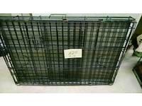 2 x medium rectangle dog cages