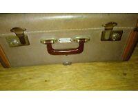 Vintage Antique Chummy Dress Pack Auto Folding Suitcase