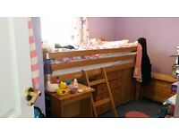 Childs Cabin Bed Wooden.