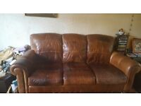High quality leather 3seater sofa and chair