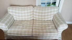 2 seater sofa + rug
