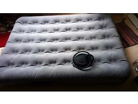 double airbed with pump - good condition