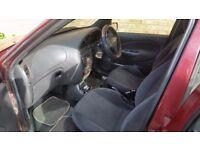 5 door Burgundy Ford Feista Ghea NO MOT 2001 *spares or repairs* petrol manual