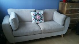 Beige Sofa, only 5mths old, bargain £190