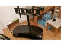 Black glass swivel tv stand - large tvs