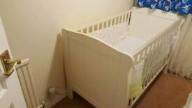 Cot bed mamas and papas with brand new mattress