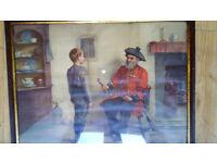 Original Antique Pears Print: Chelsea Pension talking to boy