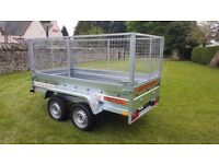 NEW TRAILER - 8,7FT X 4,2FT WITH MESH £1200 inc vat BEST PRICE - Today - 5%