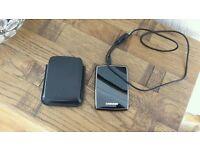 1TB portable external hard drive Samsung plus case