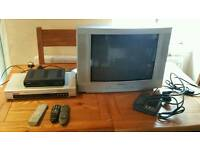 Tv. Freeview box and DVD player