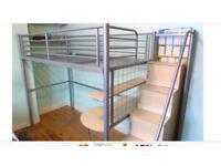 High sleeper with storage stairs