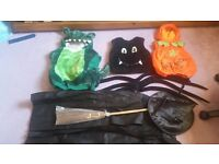 Helloween and hero costumes age between 2 to 7y