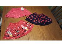 Baby girl skirts age 9-12 months