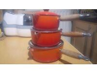Le Creuset pan set x3 - Volcanic Orange