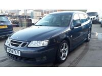 SAAB 9-3 VECTOR SPORTS WAGON, 1.8, 56 REG 2007, 3 MONTHS WARRANTY