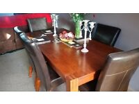 Solid Wood Dining Table with 6 chairs - Good condition