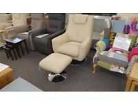 Furniture Village World of Leather Leather Swivel Chair Can Deliver