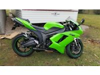 Kawasaki ZX6R 2007 excellent condition full MOT new tyres full service history