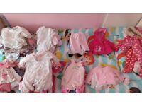 Girls 0-3m clothes large bundle 150+ items