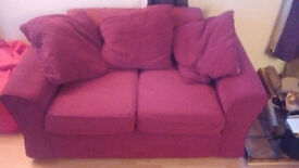 2 seater couch - Red