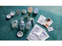 Avent manual breast pump and feeding set