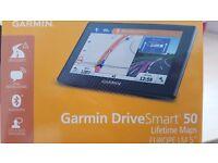 "Garmin DriveSmart 50 Lifetime maps EUROPE LM 5""(not tomtom ,mio etc...)Brand NEW!!!"