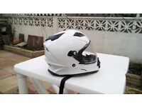 Motorcycle / Motorcross helmet - White - Medium